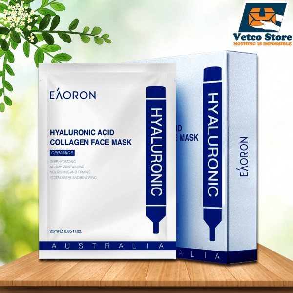 Mặt nạ giấy cấp ẩm Eaoron Hyaluronic Acid Collagen Hydrating Face Mask 5pcs