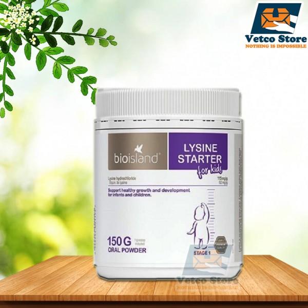 BioIsland Lysine Starter for Kids dạng bột của Úc 150g